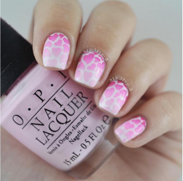 heart pink leopard valentine pink nails bmodish