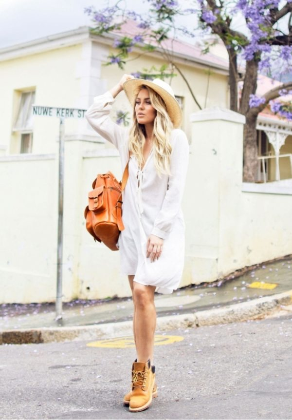 how to wear timberland boots with dress bmodish
