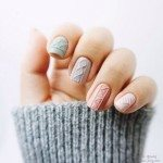pastel knit nails bmodish