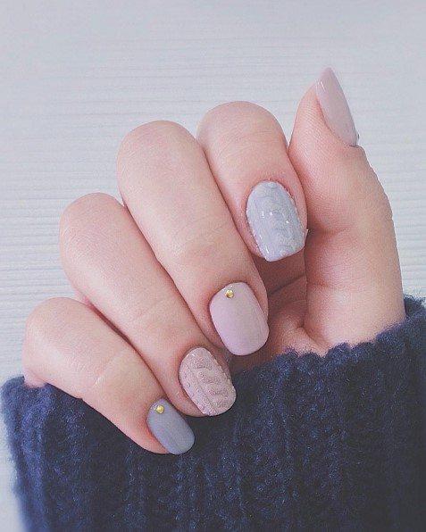 pastel sweater nail bmodish