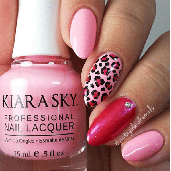 pink leopard nail design bmodish - 33 Cute Pink Nail Designs You Must See - Be Modish
