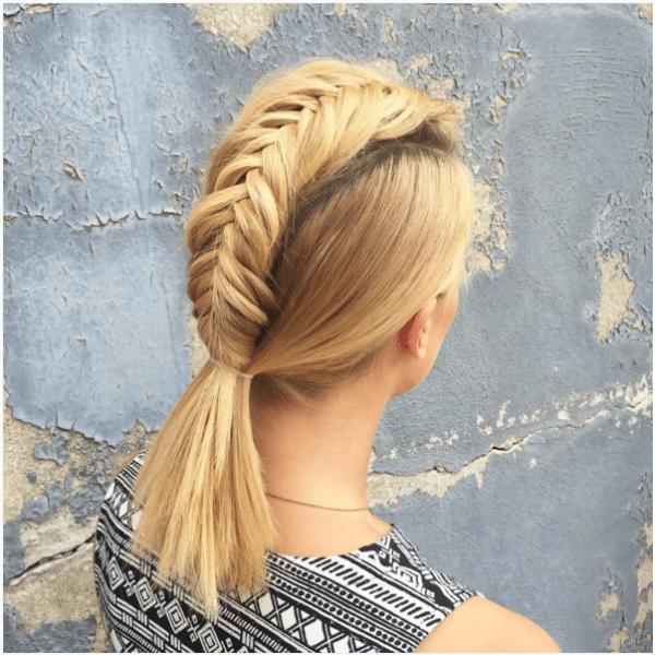amazing mohawk fishtail braid for short hair bmodish