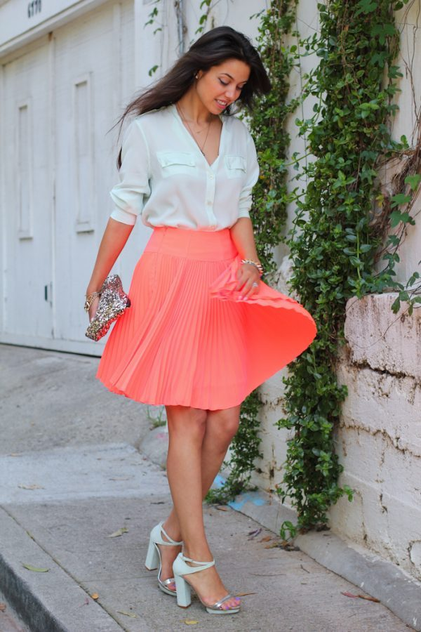blouse with pleated skirts bmodish