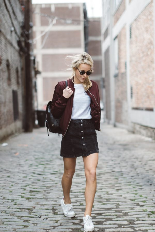 bomber jacket outfit trends