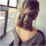 cute woven braid short hair bmodish