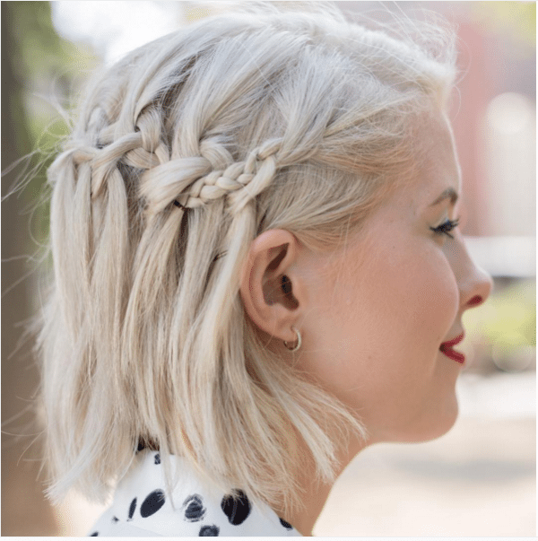 double wave braids short hair bmodish