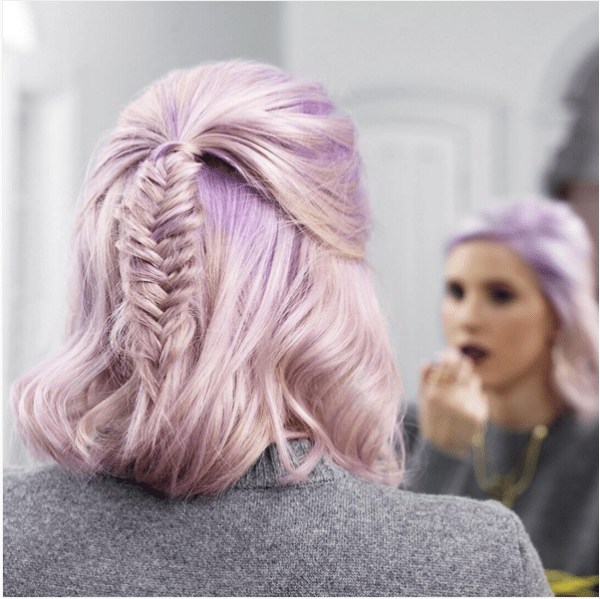 fishtail braid for short hair bmodish