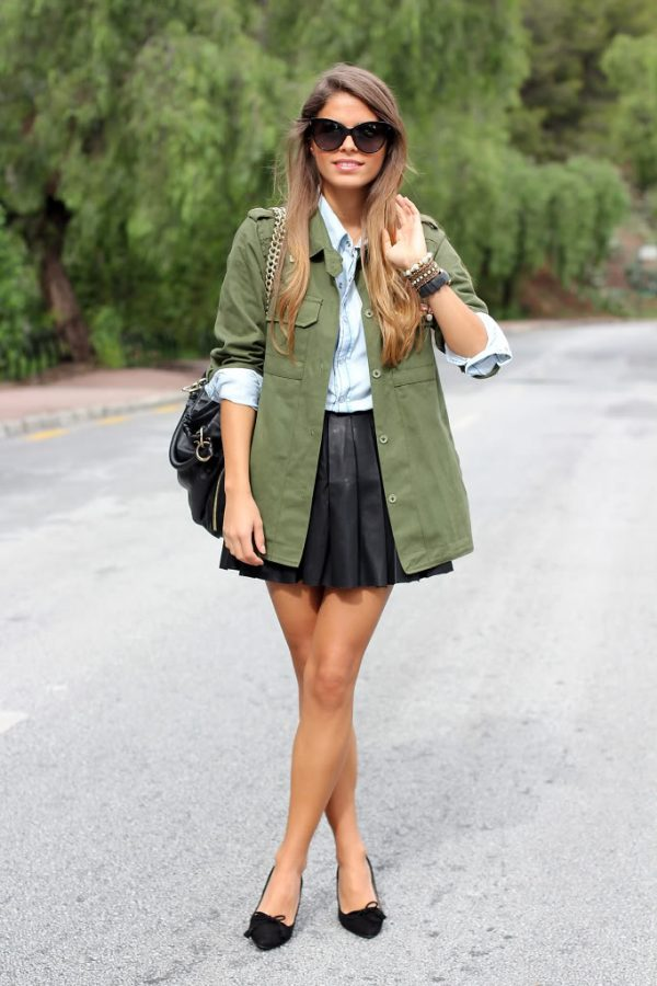 how to wear leather pleated skirt bmodish