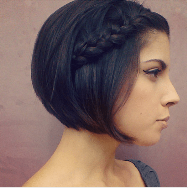 simple cute braid for short hair bmodish