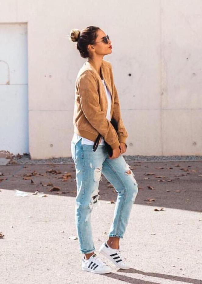 suede bomber jacket outfit