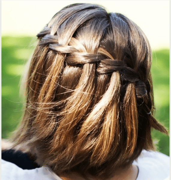 waterfall braid short hair bmodish