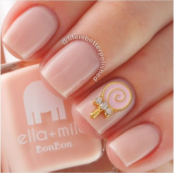 Nude nail art designs that will look great on every skin tone be candy bon bon nude nails bmodish prinsesfo Images