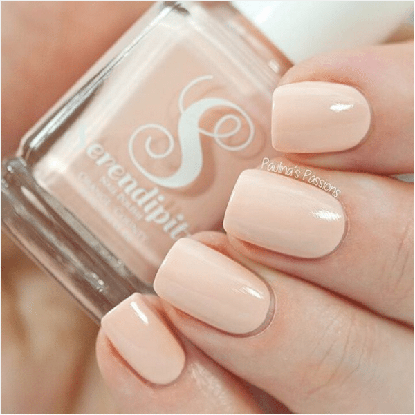 creme neutral color peach nail art bmodish