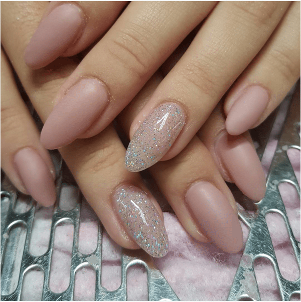 matte nude nail design bmodish