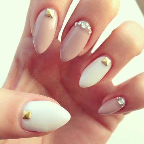 neutral shades nail art bmodish