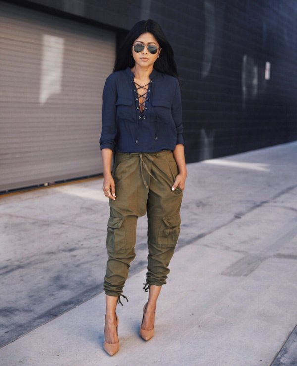 lace up detailing outfit bmodish