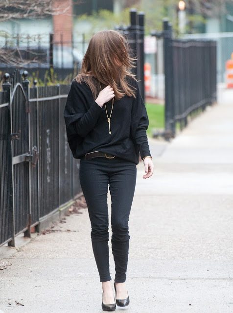 all black outfit for spring 2016 bmodish