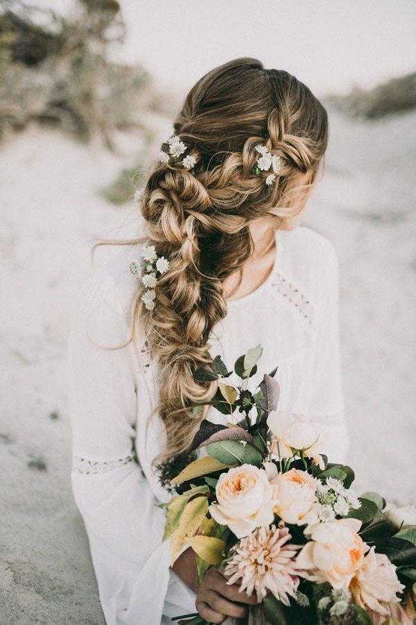 amazing braided wedding hair with flower bohemian bridal braid bmodish