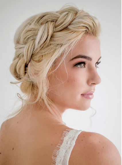 blonde braided updo wedding hair bmodish 2