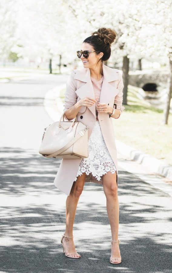 blush pink and white spring outfit bmodish