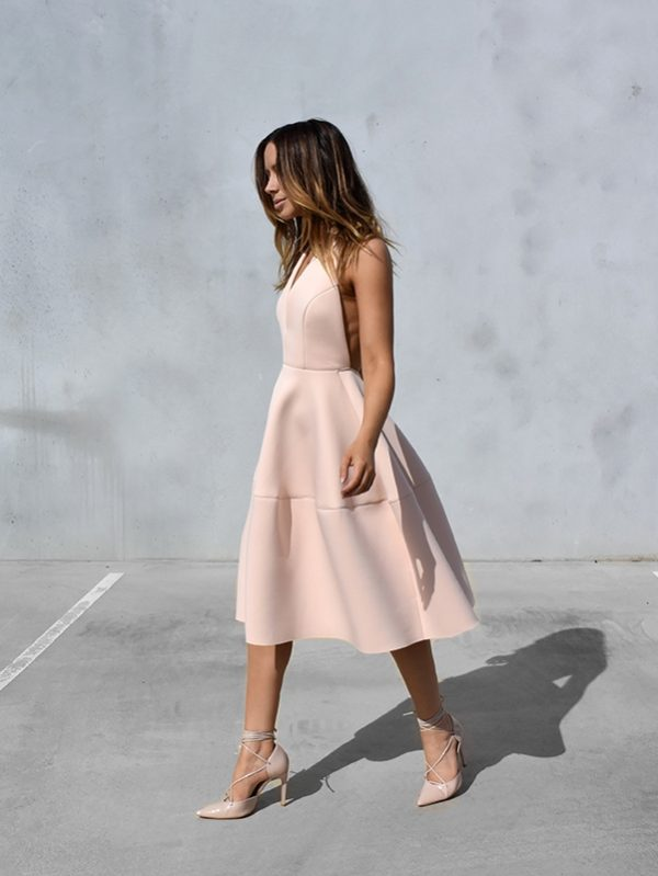 blush pink summer dress bmodish