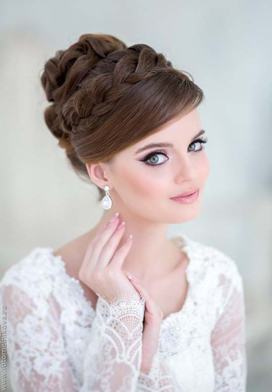 braided headband updo wedding hairstyle bmodish