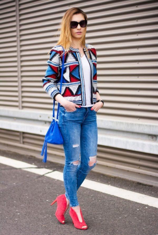 colorful blazer stylish spring style bmodish