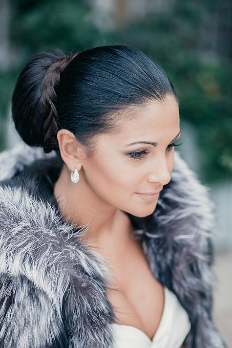 elegant bun braided wedding hair bmodish