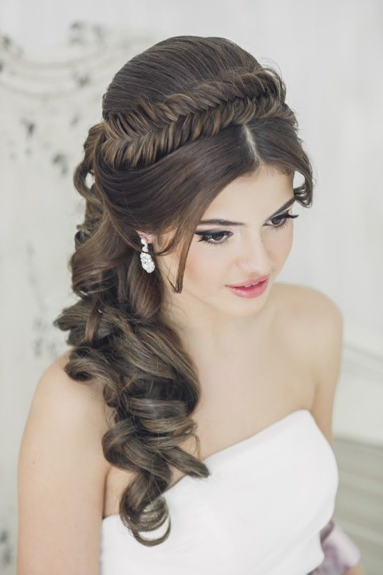 fishtail headband wedding hairstyle bmodish