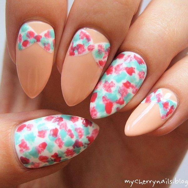 floral bow nail art bmodish