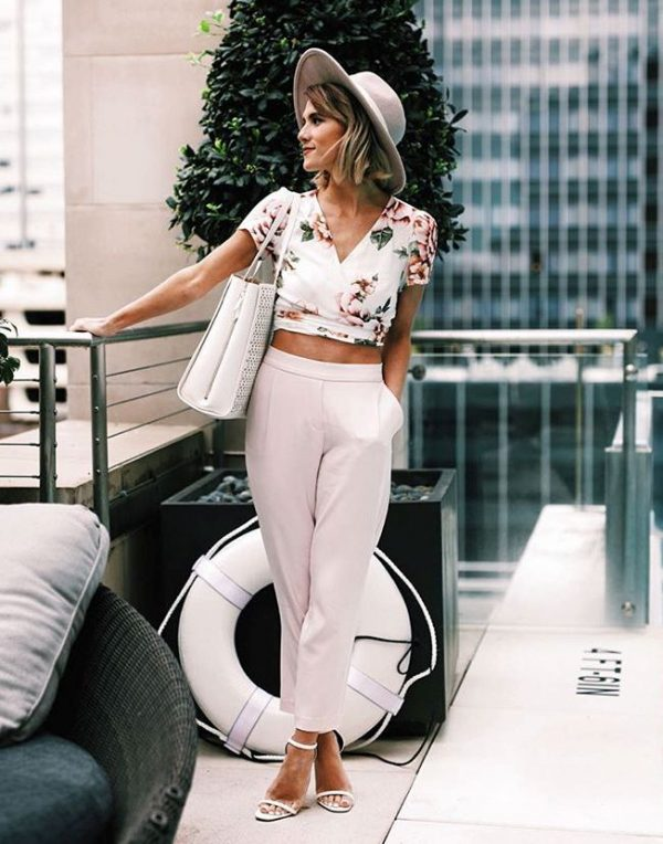 floral crop top cute spring style bmodish