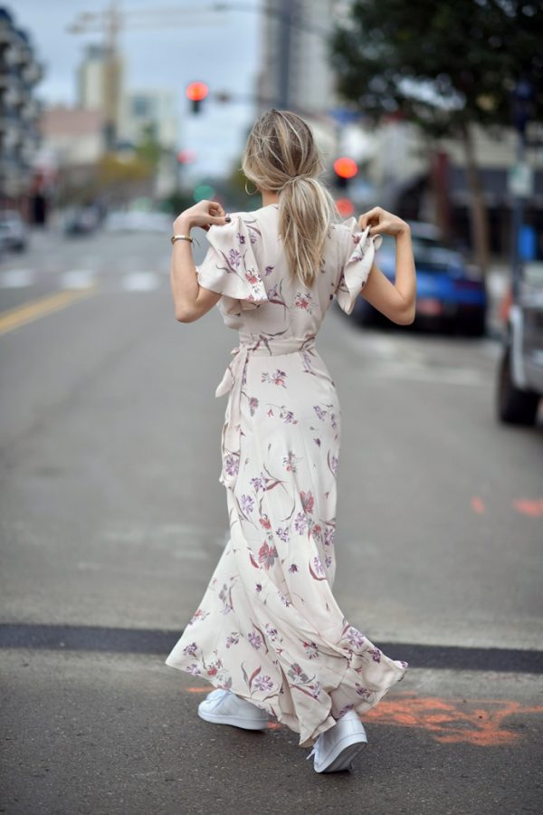 floral maxi dress with sneakers spring outfits 2016 bmodish