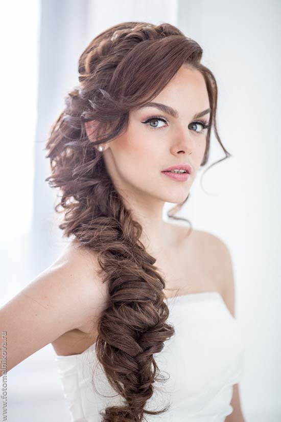 french braid fishtail wedding hairstyle bmodish