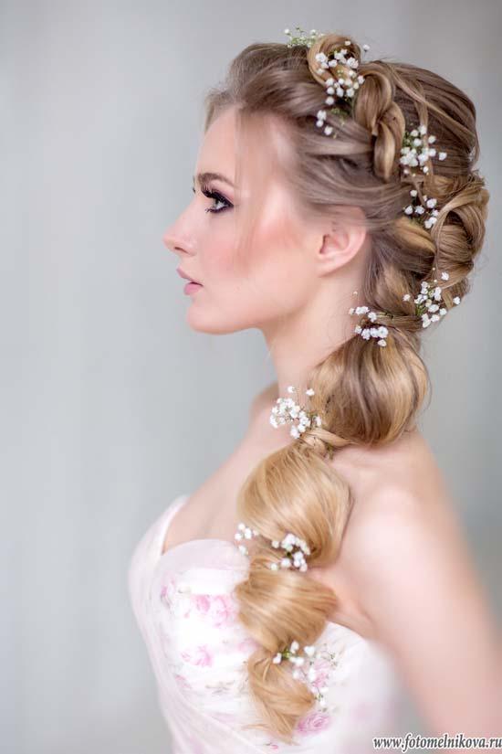 french braid low ponytail wedding hair bmodish