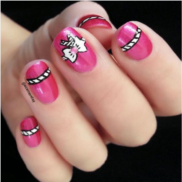 gift bow nail art bmodish