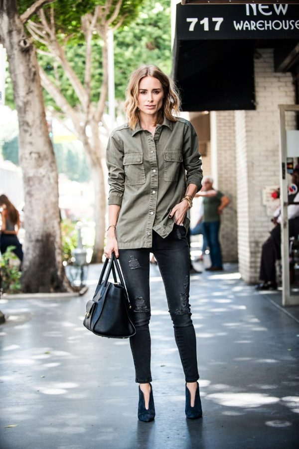 khaki button up shirt casual outfit bmodish