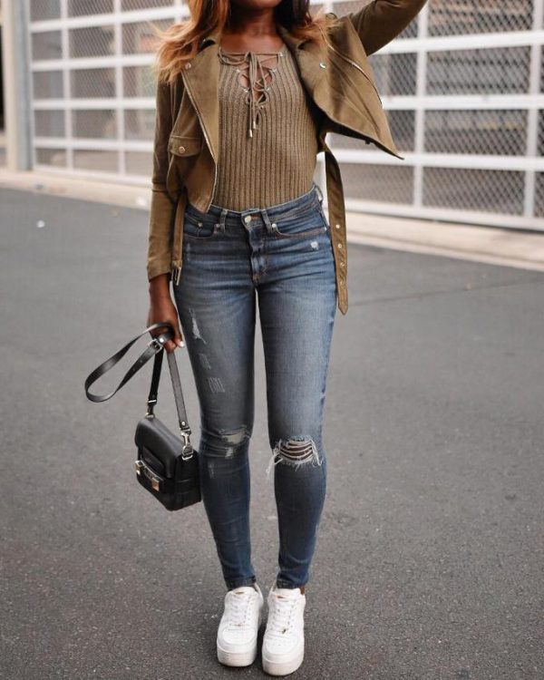 khaki casual look khaki outfits for girls bmodish
