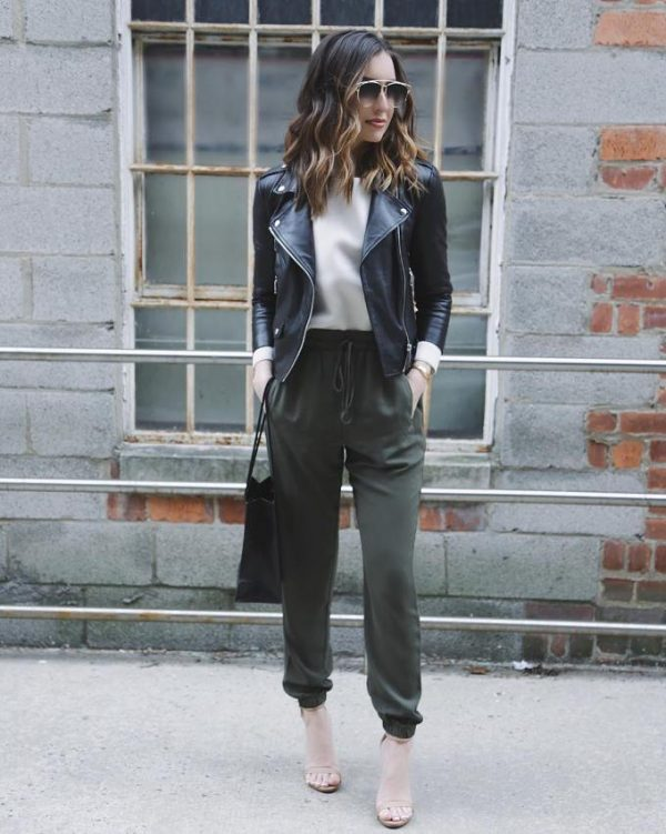 cute outfits with khaki pants khaki joggers casual outfit bmodish