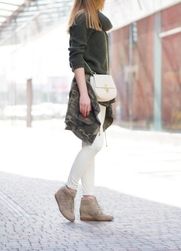 khaki sweater military look outfit bmodish