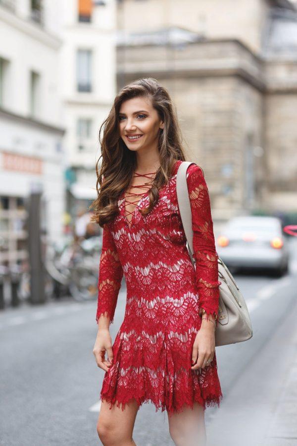 lace up lace dress bmodish