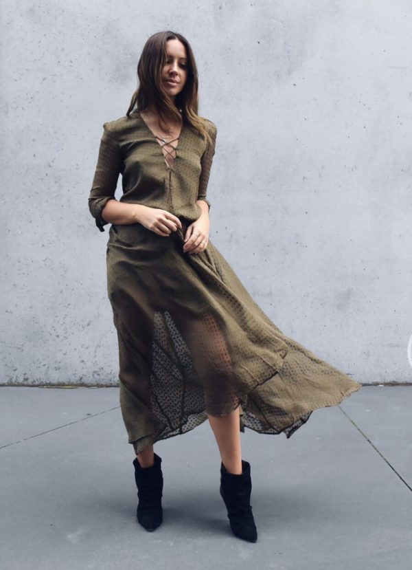 lace up long khaki dresses for women bmodish