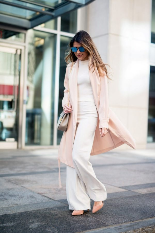mango blush trench spring outfit bmodish