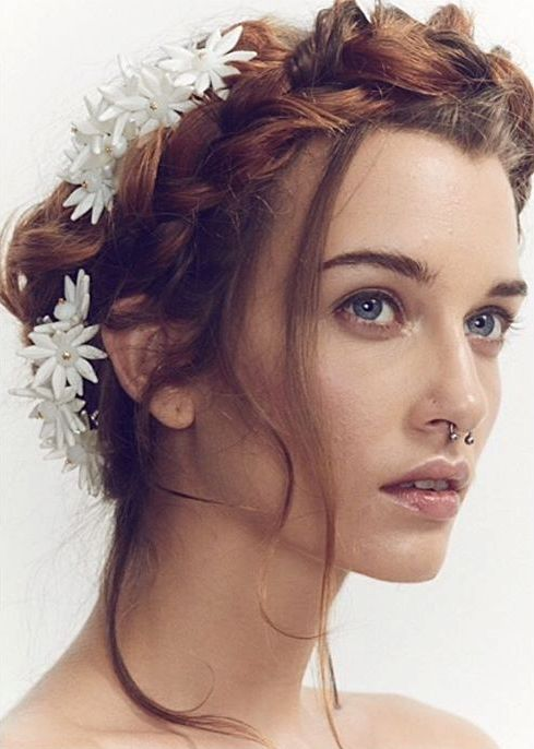 milkmaid braid bridal hairstyle bmodish