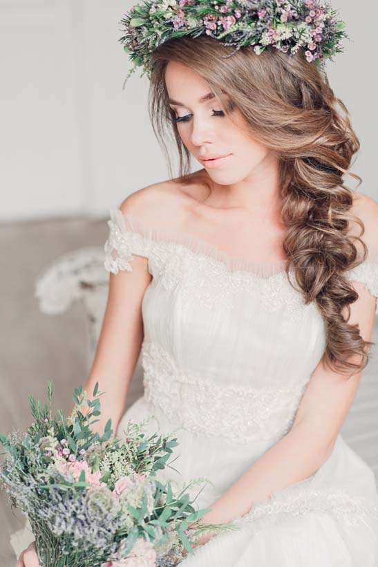 romantic side braid wedding hair wedding hairstyles with braids bmodish