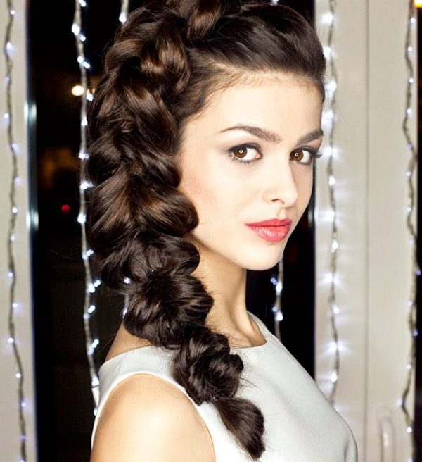 side french braid wedding hairstyle bmodish