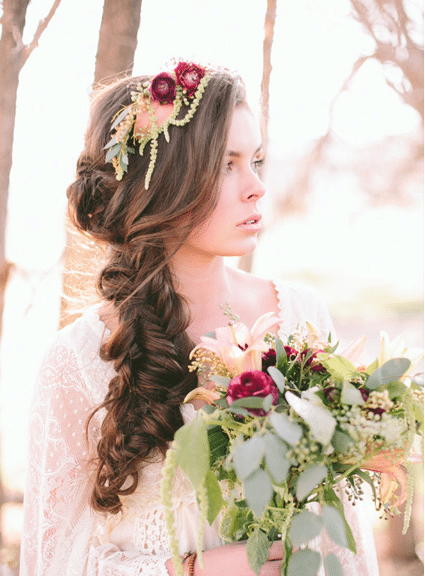 side messy braid long hair wedding hair bmodish 2