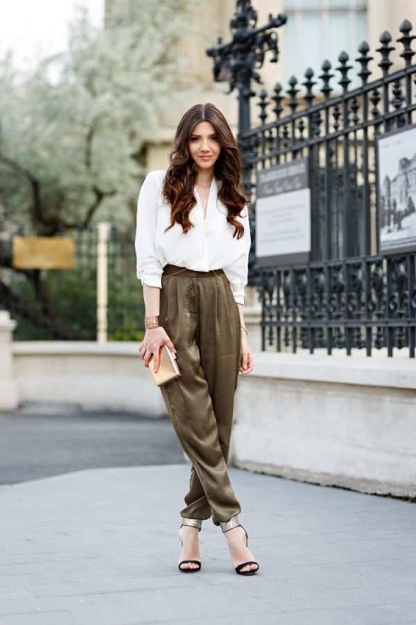 silky cute khaki pants for women bmodish