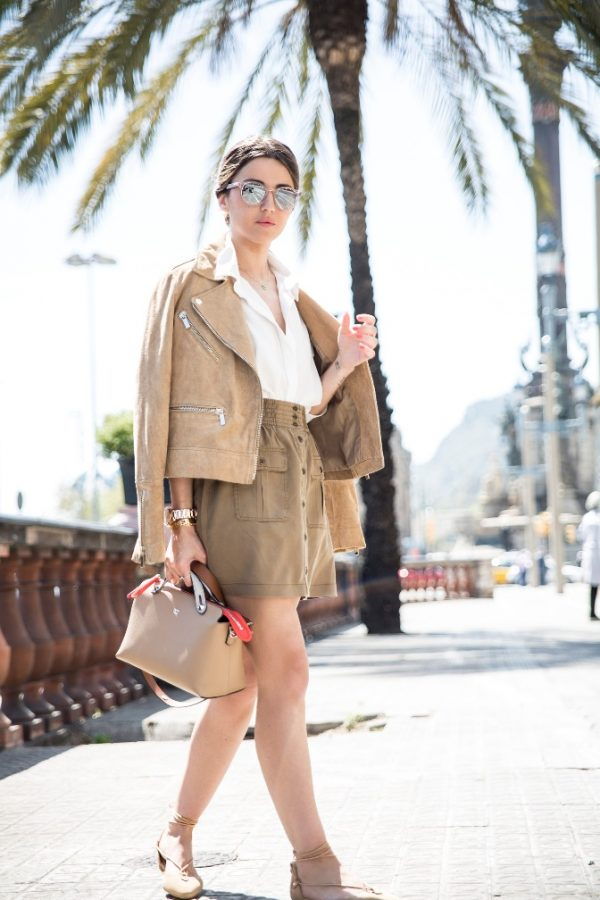 cute outfits with brown pants simple khaki button front skirt summer outfit bmodish