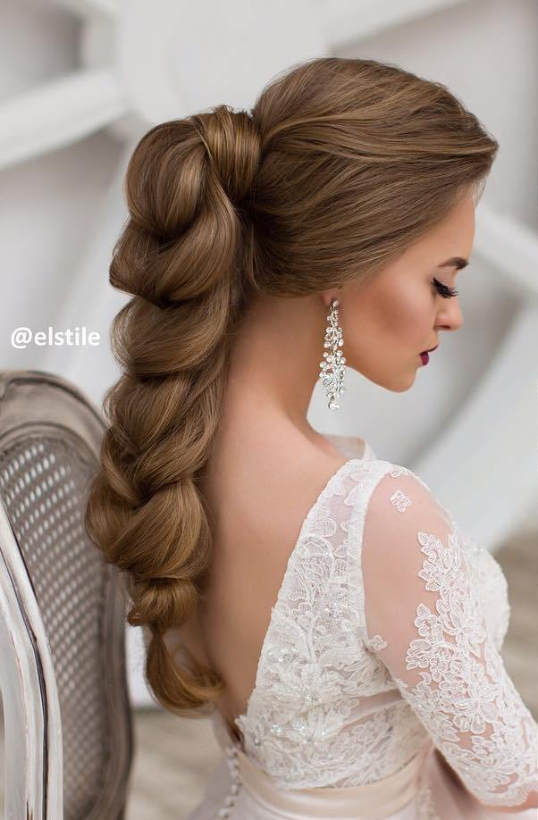 stunning ponytail braided wedding hairstyle bmodish