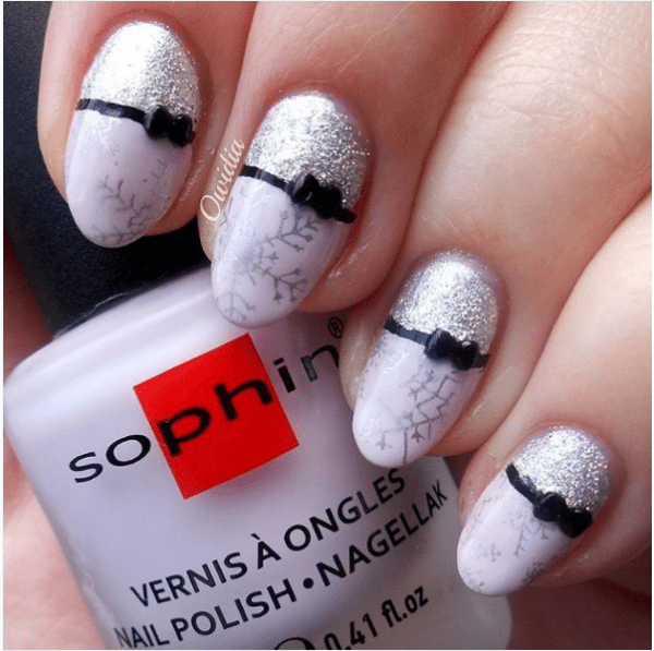 50 cute bow nail art designs be modish winter bow nail art bmodish prinsesfo Image collections